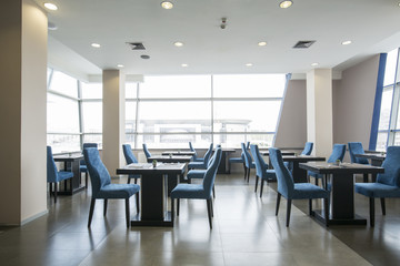 Modern restaurant interior in hotel