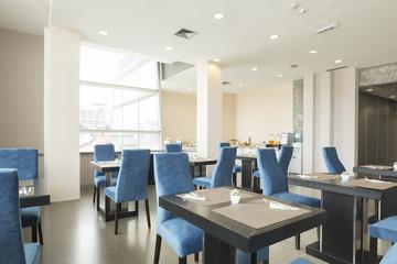 Modern restaurant interior in hotel