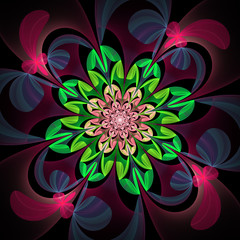 Fabulous multicolored flower pattern. You can use it for invitat