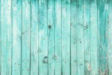 Old green wooden background.