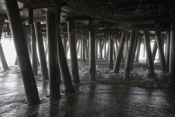 Poles under jetty