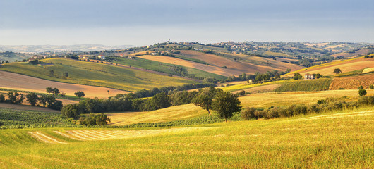 Country landscape in Marches (Italy)