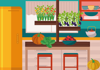 From garden-bed to dining table: illustration of  growing your own vegetables at home