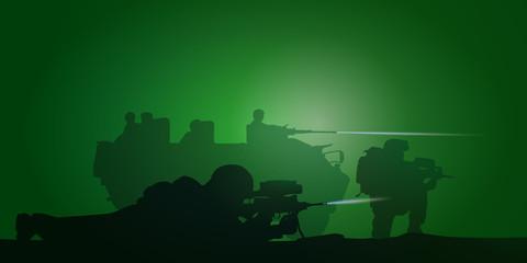 Soldats Français - Combat nocturne