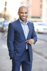 Smiling young man wearing suit
