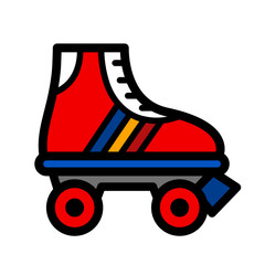 Colorful single roller skate