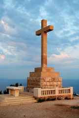 Cross on Srdj hill above Dubrovnik, Croatia