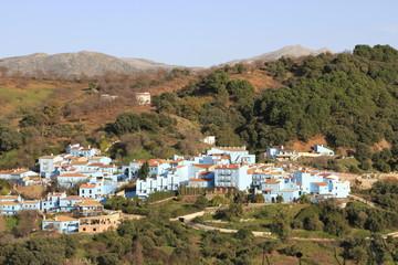 pueblo serrano de Juzcar en Malaga