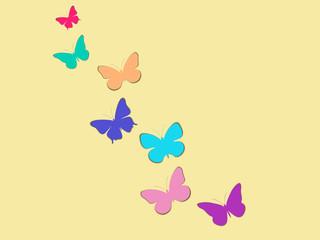 Set of butterflies. Vector illustration.