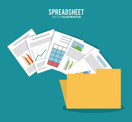Spreadsheet design, business and infographic concept,