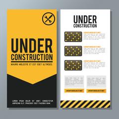 Flat illustration about under construction design. road sign