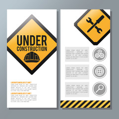 Flat illustration about under construction design. road sign