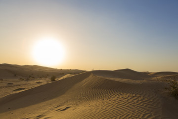 Sand dunes desert near Dubai in UAE