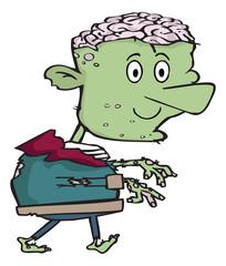 Cartoon frankenstein monster face