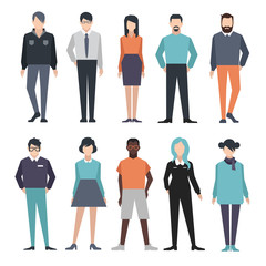 People illustrations. set