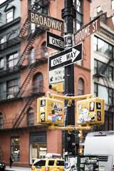 Street signs, close-up