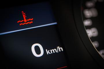 Coolant temperature symbol in a car