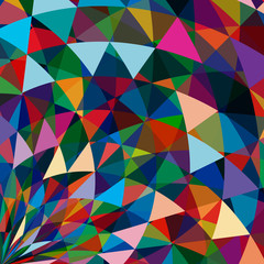 Multicolor abstract bright background with triangles