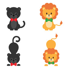 panther and lion set