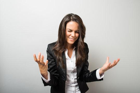 business woman misunderstanding