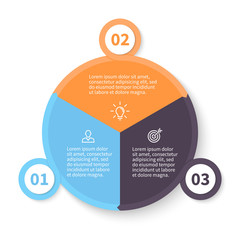 Circular infographics with number options.