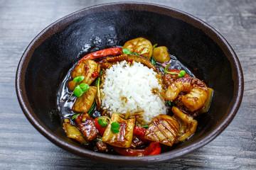 Kalmar Kung Pao garnish rice