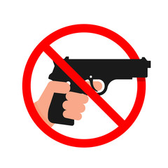Do not use Guns or Weapons Sign.