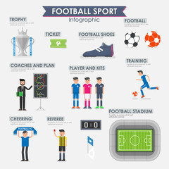 Football, Soccer Infographic. Vector illustration.