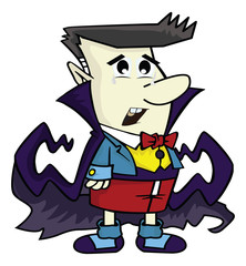 Draculas face cartoon character