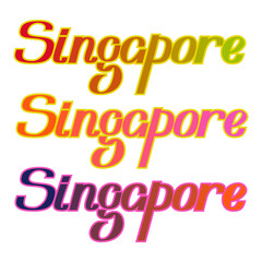 Singapore colorful letters title