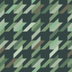 Dogtooth Camouflage Seamless Vector Pattern