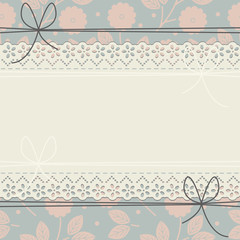 Cute cover with decorative flowers and leaves