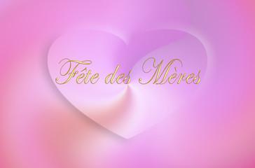 Fête des mères 1 coeur rose