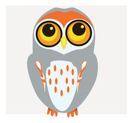 Vector of Bright Owl