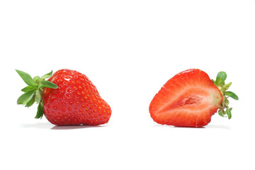 Japanese perfect ripe strawberry and copy space