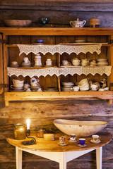 Old fashioned domestic kitchen interior