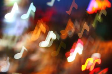 bokeh musical notes