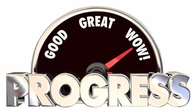 Progress Forward Movement Momentum Measure Advancing Results 3d