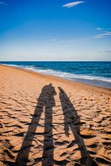 Les ombres sur la plage de Pineda De Mar