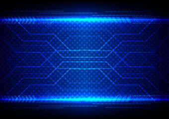 Abstract Technology circuit with arrow background vector illustr