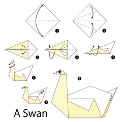 Step by step instructions how to make origami A Swan.