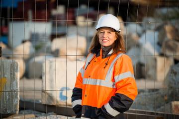 Senior woman engineer portrait