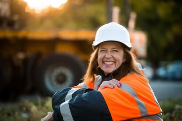 Happy in work -  senior woman engineer