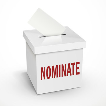 nominate word on the white box