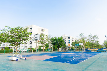 basketball court in park