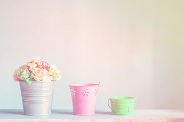 flower pots with vintage.