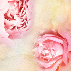 watercolor and flowers abstract background