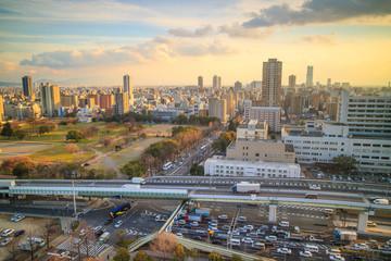 Downtown of Osaka skyline