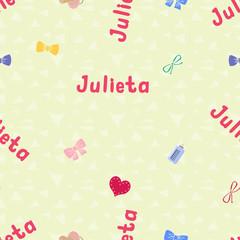 Seamless background pattern name Julietta of the newborn