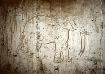 Art préhistorique, éléphant
